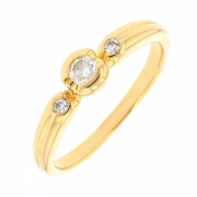 Bague diamants 0.12 carat en or jaune