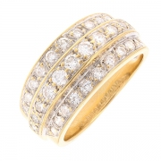 Bague diamants 0.65 carat en or jaune