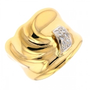 Bague diamants 0.05 carat en or jaune