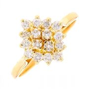 Bague marquise diamants 0.40 carat en or jaune