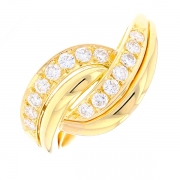 Bague diamants 0.45 carat en or jaune