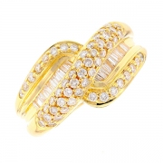 Bague diamants 1.35 carat en or jaune