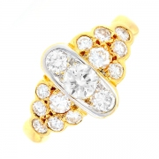 Bague diamants 1.25 carat en or jaune