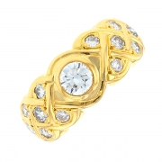 Bague diamants 1.10 carat en or jaune