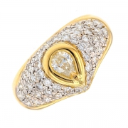Bague diamants 0.82 carat en or bicolore