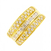 Bague diamants 0.58 carat en or jaune