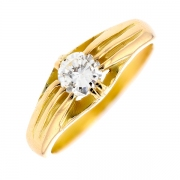 Solitaire diamant 0.45 carat en or jaune