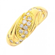 Bague diamants 0.27 carat en or jaune