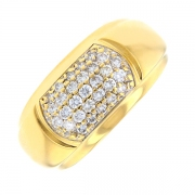 Bague pavage diamants 0.58 carat en or jaune