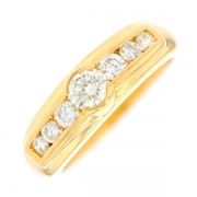 Solitaire diamants 0.54 carat en or jaune