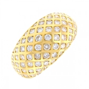 Bague pavage diamants 1.05 carat en or jaune