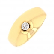 Solitaire diamant 0.10 carat en or jaune