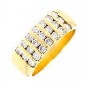 Bague diamants 0.73 carat en or jaune