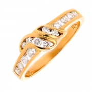 Bague diamants 0.34 carat en or jaune