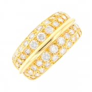 Bague diamants 0.88 carat en or jaune