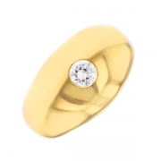 Bague diamant 0.25 carat en or jaune
