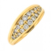 Bague diamants 0.72 carat en or jaune
