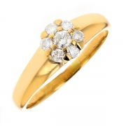 Bague diamants 0.32 carat en or jaune