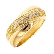 Bague diamants 0.14 carat en or jaune
