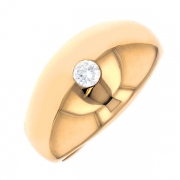 Bague diamant 0.17 carat en or jaune
