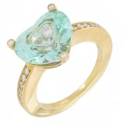 Chopard - Bague So Happy diamants 0,19 carat et spinelle synthétique en or jaune