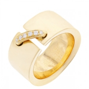 Bague Chaumet diamants serti grain