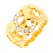 Bague signée CARTIER diamants 0.28 carat en or jaune