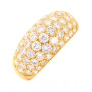 Bague signée VICTOROFF diamants 5.50 carats  en or jaune