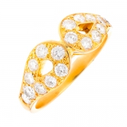Bague signée VICTOROFF diamants 1.44 carat en or jaune