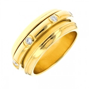 Bague diamants 0.35 carat signée PIAGET en or jaune