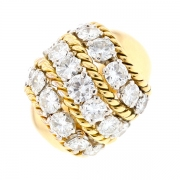 Bague boule diamants 2.65 carat en or jaune