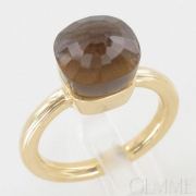 Bague Or Jaune Quartz Fum�