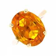 Bague ovale citrine en or jaune 6.94grs