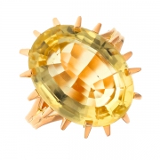 Bague citrine en or jaune 5.94 grs