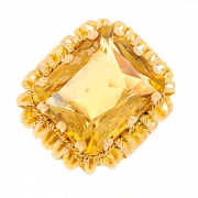 Bague vintage citrine en or jaune 13.31grs