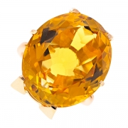 Bague vintage citrine 26.51 carats en or jaune