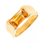 Bague citrine 1.40 carat en or jaune