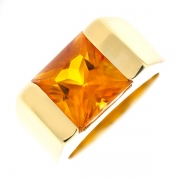 Bague citrine 4.70 carats en or jaune