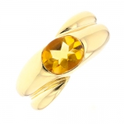 Bague citrine en or jaune