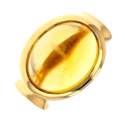 Bague citrine cabochon 10.30 carats en or jaune
