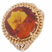 Bague citrine sur or jaune - Occasion