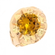 Bague vintage citrine 2.30 carats en or jaune