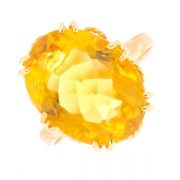 Bague citrine 10 carats en or jaune