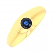 Bague saphir en or jaune 6.59grs
