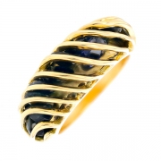 Bague saphirs en or jaune