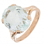 Bague aigue-marine en or rose - Occasion