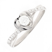 Bague diamants  0.31 carat en platine
