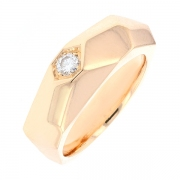 Bague diamant 0.13 carat en or rose