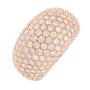 Bague signée BOSLE diamants 4.40 carats en or rose