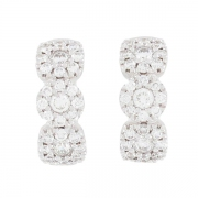 Boucles d'oreilles diamants 0,74 carat en or blanc